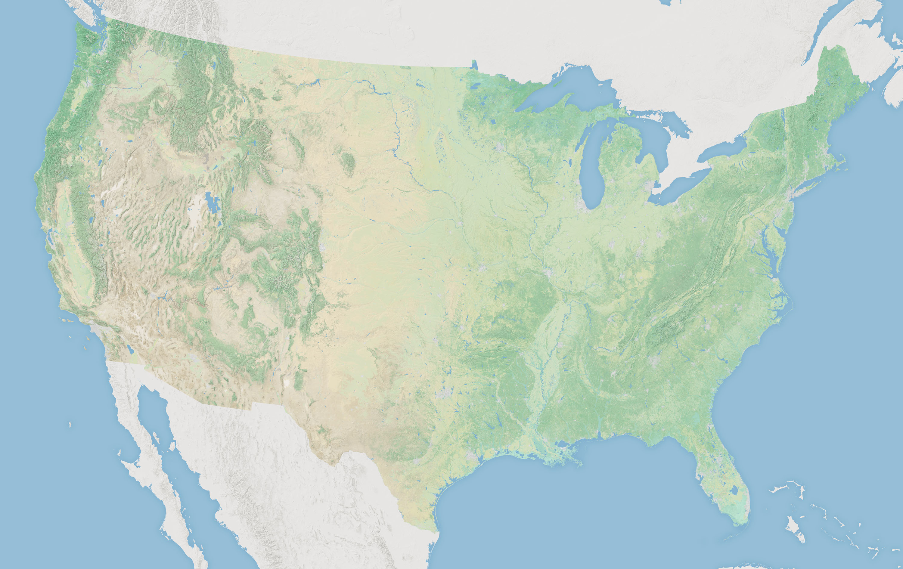 Contiguous United States Map - World Maps