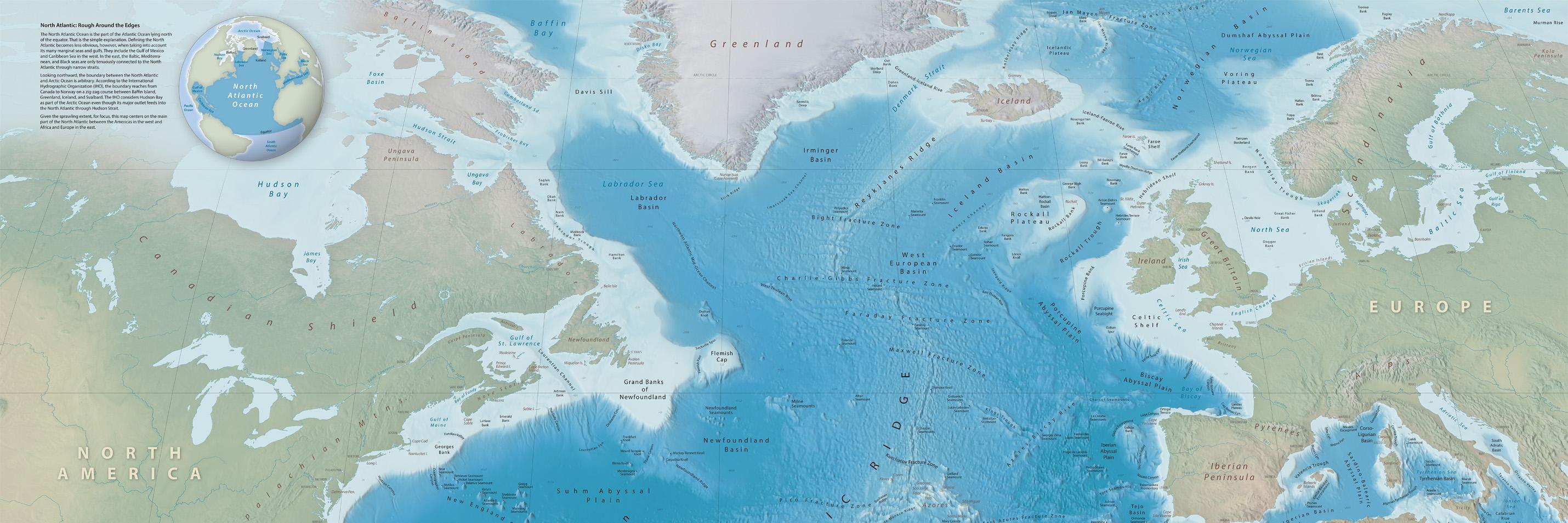 North Atlantic Seafloor Map