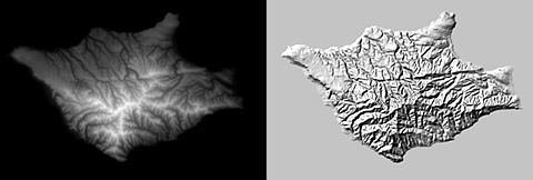 Shaded Relief Production