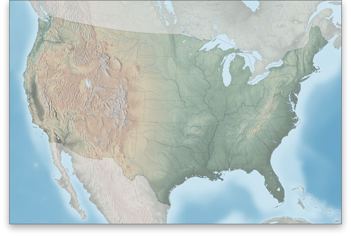 US Physical Map Home - Terrain map of the us