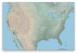 US Physical Map Download - Terrain map of the us