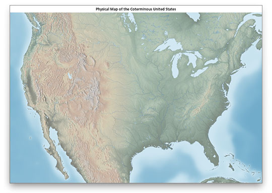 US Physical Map Download - Physical map of the us