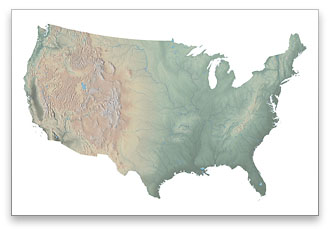US Physical Map Download - Terrain map us