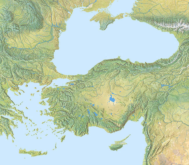 Hal Shelton Revisited Introduction - Europe terrain map