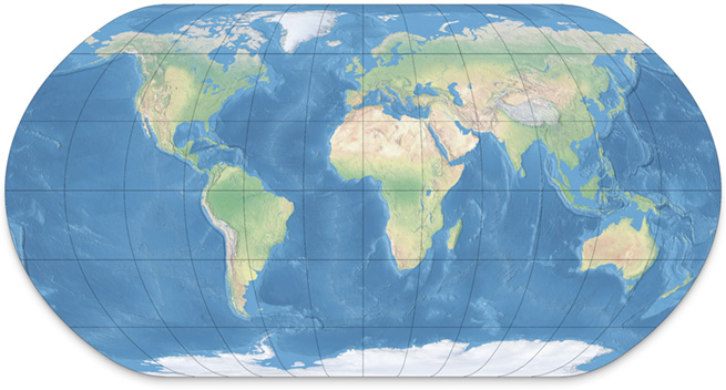 Earth Physical Map The Natural Earth projection